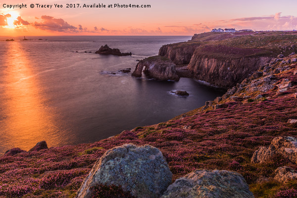 Lands End Sunset Canvas print by Tracey Yeo