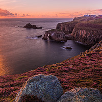 Buy canvas prints of Lands End Sunset by Tracey Yeo