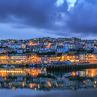 Buy canvas prints of Brixham Harbour. by Tracey Yeo