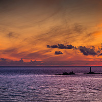 Buy canvas prints of Longships Silhouette.  by Tracey Yeo