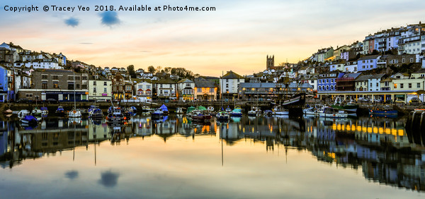 Brixham Harbourside. Canvas print by Tracey Yeo