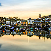 Buy canvas prints of Brixham Harbourside. by Tracey Yeo