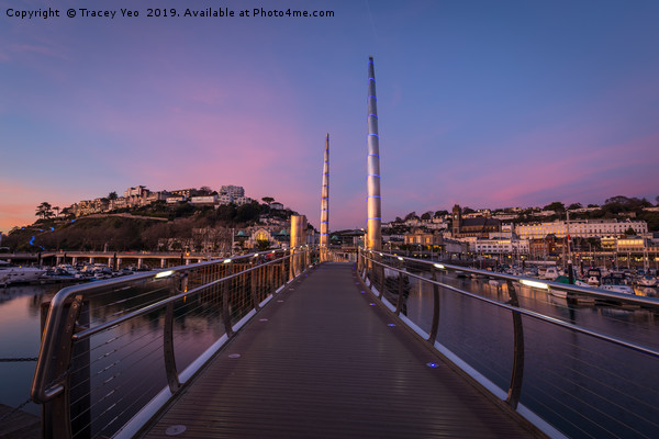 Torquay Harbour Sunset  Canvas print by Tracey Yeo
