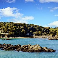 Buy canvas prints of Salcombe Estuary At Low Tide. by Tracey Yeo