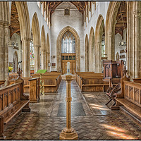 Buy canvas prints of Norfolk Church View by Brian Fry