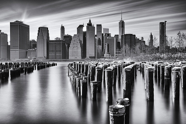 NYC monochrome Canvas print by Kevin Ainslie