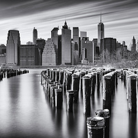 Buy canvas prints of NYC monochrome by Kevin Ainslie