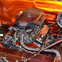 Buy canvas prints of Classic car engine. by David Lally