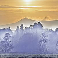 Buy canvas prints of Bennachie In the Mist by Eric Watson