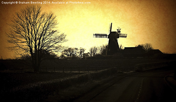 Country Mill Canvas print by Graham Beerling