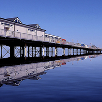 Buy canvas prints of The Pier in Colour by Graham Beerling