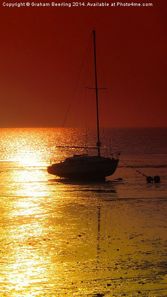 Evening Sunset at Herne Bay Canvas print by Graham Beerling