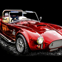 Buy canvas prints of  Vintage Sports Car by Graham Beerling