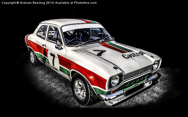 Ford Escort Sport Canvas print by Graham Beerling