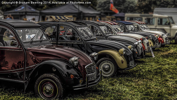 2CV LineUp Canvas print by Graham Beerling
