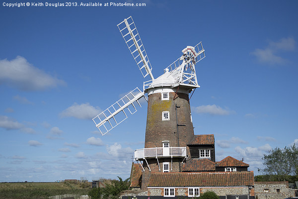 Cley Windmill Framed Mounted Print by Keith Douglas