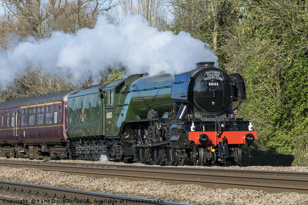 Flying Scotsman heads for London Canvas print by Keith Douglas