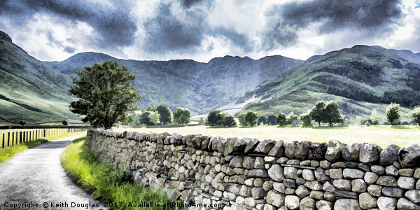 Langdale and Crinkle Crags Canvas Print by Keith Douglas