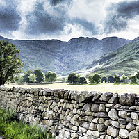 Buy canvas prints of Langdale and Crinkle Crags by Keith Douglas