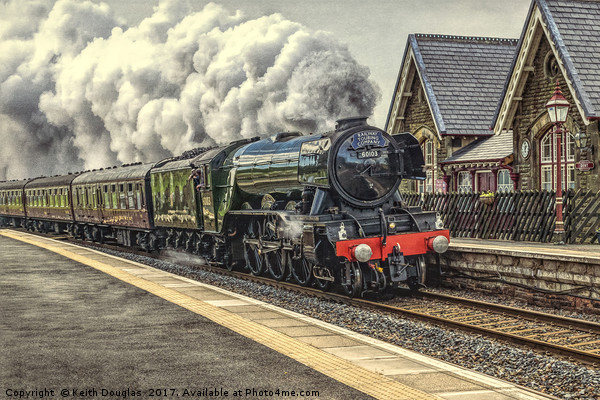 Flying Scotsman at Dent Station Canvas Print by Keith Douglas