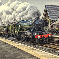Buy canvas prints of Flying Scotsman at Dent Station by Keith Douglas