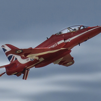 Buy canvas prints of  Red Arrow Clacton Action by matthew mallett