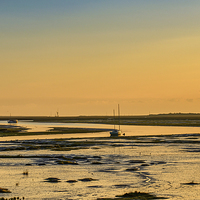 Buy canvas prints of  Waiting For First Light And Tide by matthew mallett