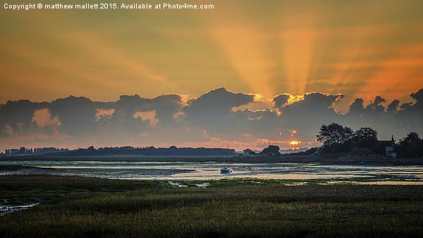 First Moments Of The Sun Framed Print by matthew mallett