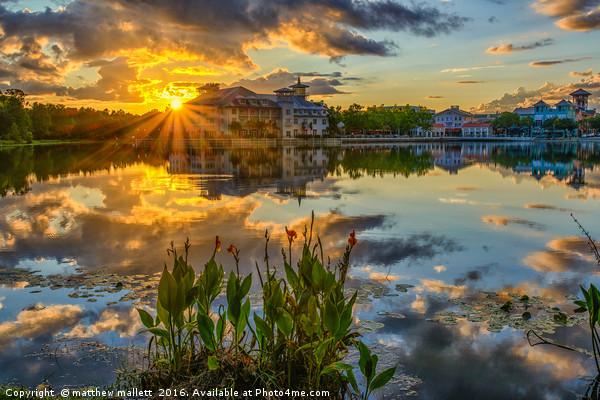 Celebration Orlando Sunset Heaven Canvas print by matthew mallett