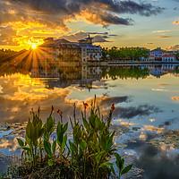Buy canvas prints of Celebration Orlando Sunset Heaven by matthew mallett
