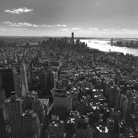 Buy canvas prints of  Manhattan by Andrew Warhurst