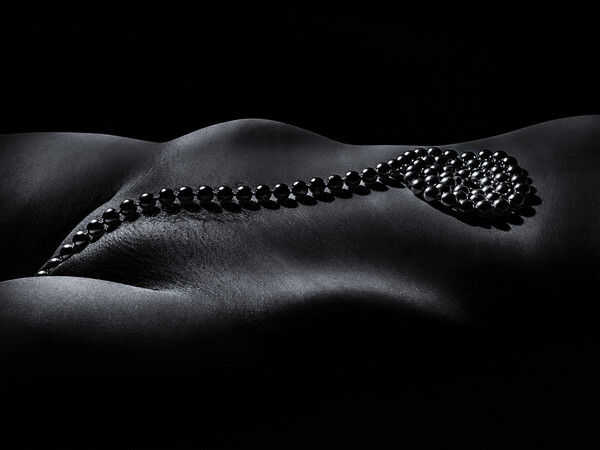String of Pearls A Nude Bodyscape Framed Mounted Print by Inca Kola