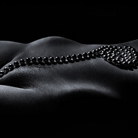 Buy canvas prints of String of Pearls A Nude Bodyscape by Inca Kola