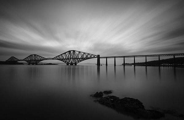 Forth Bridge Black & White Canvas print by Andy Redhead