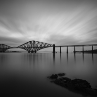 Buy canvas prints of Forth Bridge Black & White by Andy Redhead