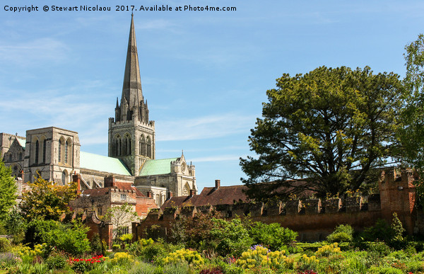 Chichester Cathedral Canvas print by Stewart Nicolaou