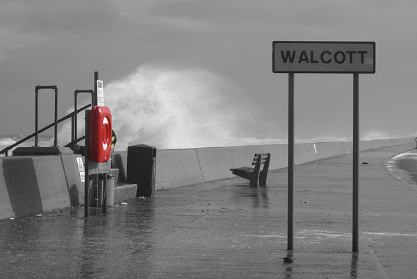 Walcott Sea Front Storms Canvas Print by James Taylor