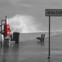 Buy canvas prints of Walcott Sea Front Storms by James Taylor