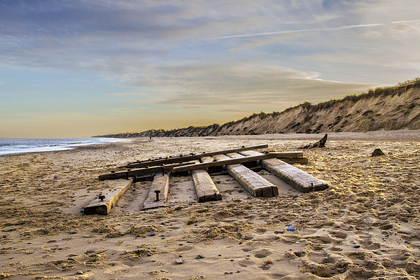 Hemsby Beach Canvas Print by James Taylor