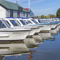 Buy canvas prints of Day Boats Ready At Potter Heigham by James Taylor