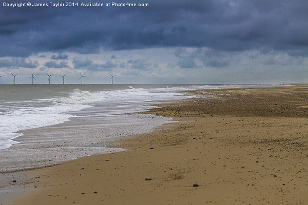 looking a bit stormy over hemsby beach Canvas Print by James Taylor
