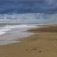 Buy canvas prints of looking a bit stormy over hemsby beach by James Taylor