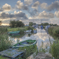 Buy canvas prints of  Martham Boat yard by James Taylor