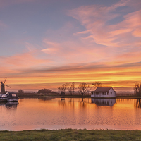 Buy canvas prints of Sunset Thurne Norfolk by James Taylor