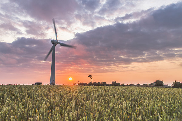 Wind Turbine at Somerton Canvas Print by James Taylor