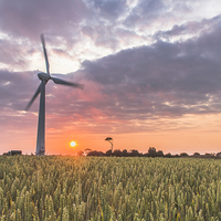 Buy canvas prints of  Wind Turbine at Somerton by James Taylor