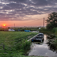 Buy canvas prints of Somerton Sunset by James Taylor