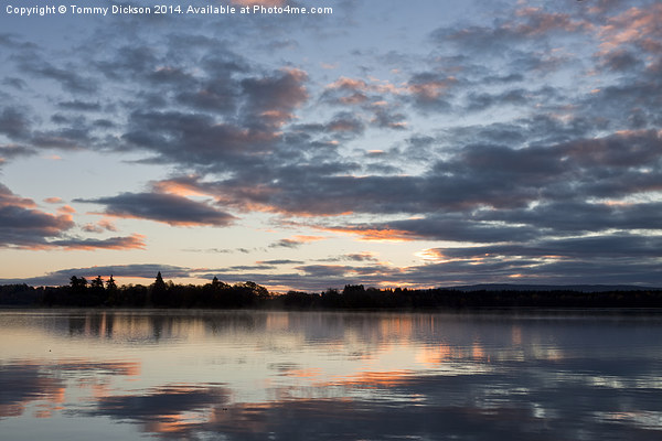 Lake of Menteith Dawn. Canvas print by Tommy Dickson