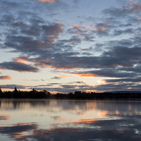 Buy canvas prints of Lake of Menteith Dawn. by Tommy Dickson