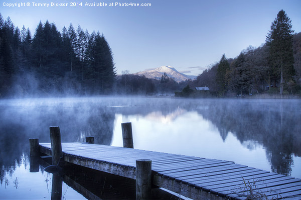 Frosty Loch Ard. Canvas print by Tommy Dickson